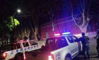 Efectivos de Prefectura y de la Policía durante los operativos de este viernes
