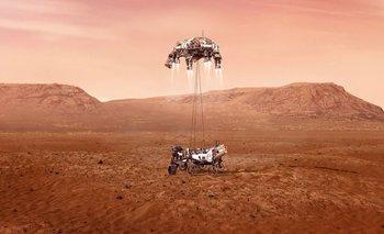 Imagen que ilustra la llegada del robot al planeta.