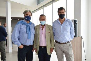Nelson Vicente, José Olivencia y Cesar Caggiano