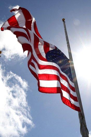 La bandera de Estados Unidos en Daytona Beach, Florida