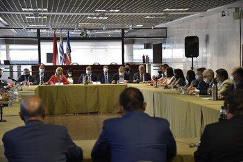 Reunión de la coalición de partidos en el gobierno