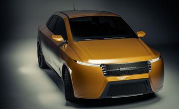 Auto eléctrico del modelo E26 de la empresa española Lupa, que instala su fábrica en Uruguay en 2024