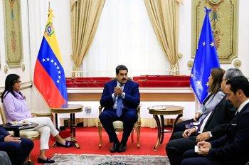 Nicolás Maduro en una reunión.