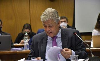 El canciller Francisco Bustillo en la comisión de Asuntos Internacionales de Diputados