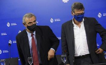Jorge Larrañaga y Jorge Díaz en una conferencia de prensa