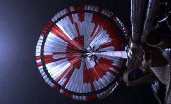 La misión Perseverance en Marte llevaba un mensaje oculto en el paracaídas.
