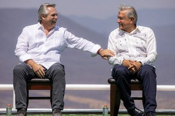 Alberto Fernández estuvo esta semana en México invitado por López Obrador