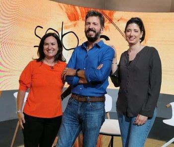 Daniela Hirschfeld, Gustavo Villa y Alexandra Perrone.