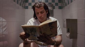 Vincent Vega se toma un respiro en medio de Pulp Fiction