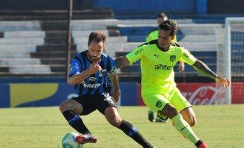 Figueredo y Trindade, en el partido que jugaron en febrero