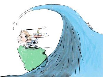 Ilustración de Pancho Perrier sobre Lacalle Pou