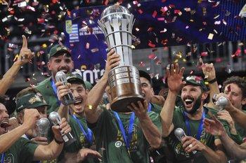 Aguada fue campeón de la Liga Uruguaya de Básquetbol ante Trouville
