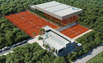 El centro cuenta con ocho canchas de tenis