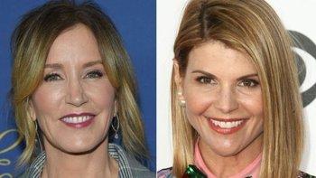 Las actrices Felicity Huffman y Lori Loughlin acusadas de soborno.