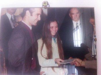 Roberto Gomensoro, primer desaparecido uruguayo, el día de su casamiento
