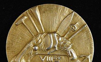 Medalla dorada de la selección uruguaya en los Juegos Olímpicos de 1924