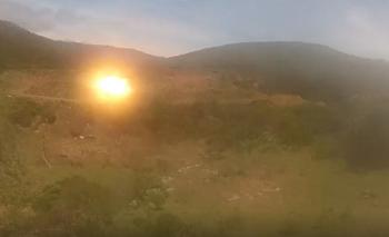 Imagen de las explosiones de la Armada en Lavalleja.