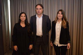 Inés Eibe, Leonardo Domankis y Mercedes Oliver