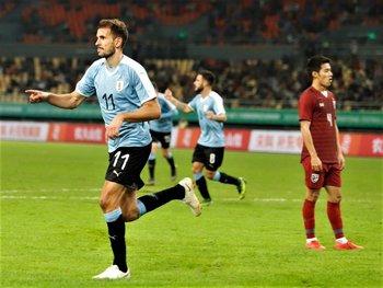 Con Uruguay, Stuani acumula ocho goles en 50 partidos
