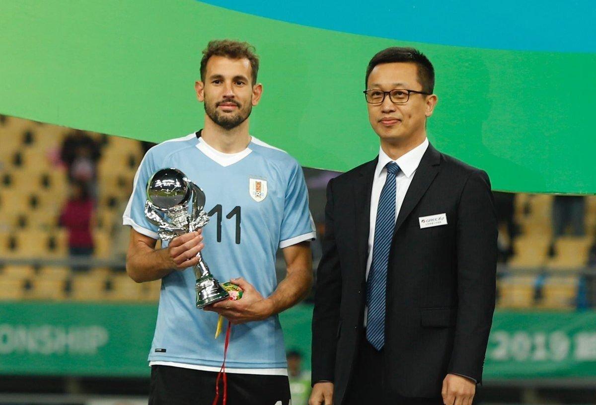 UruguayStuani fue el goleador y el MVP de la China Cup 2019