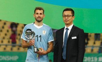 Stuani fue el goleador y el MVP de la China Cup 2019