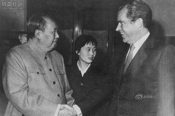 El líder chino Mao Tse Tung y el presidente estadounidense Richard Nixon en Pekín en 1972: de la enemistad a la colaboración
