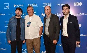 Ever Miguez, Enrique Antía, Fernando Leis y Juan Manuel Petrissans