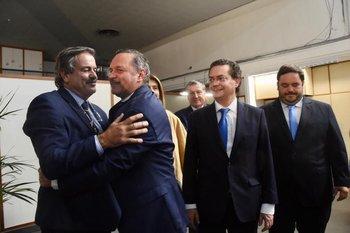 Participaron también el secretario y prosecretario de presidencia, Álvaro García y Rodrigo Ferrés.