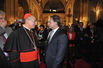 Lacalle Pou recibió la bendición de cinco comunidades religiosas en la Catedral Metropolitana un día después de su asunción presidencial
