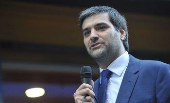 Nicolás Martinelli en su asunción como director del Mides