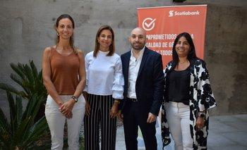 Teresa Pérez del Castillo, Daniela Alonso, Maximiliano Saporito y Fernánda Brignoni