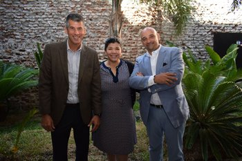 Mauricio Pelta, Sonia Berenstein y Wilson Lemus