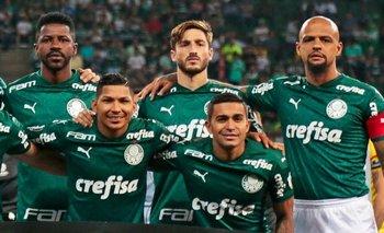 El equipo de Palmeiras ante Guaraní