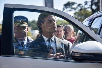 Lacalle Pou durante un acto de la Fuerza Aérea Uruguaya