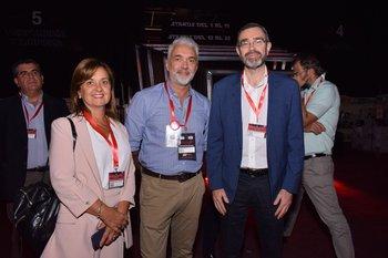 Rosario Corral, Marcelo López y Alberto Charro