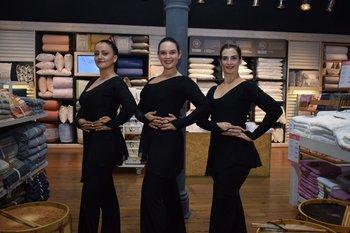 Estela Bancalari, Magela Sanchez y Coral Tosi (agrupación de malambo Suma Thakhi)