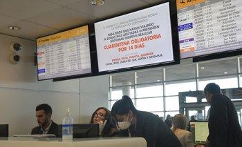 Así lucía el aeropuerto este lunes
