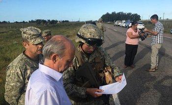 El 16 de marzo de 2020 Javier García visitó a los efectivos en algunos puntos