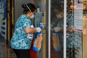 Desinfección por la epidemia de coronavirus en Montevideo