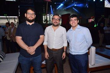 Ignacio Martínez, Fabian Villar y Alexis Martinovic