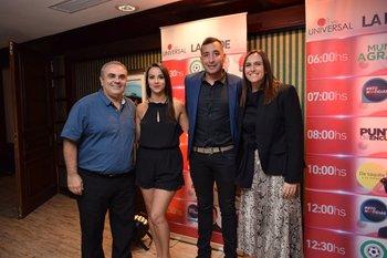 Andrés Rega, Giuliana Perdomo, Martin Riveiro y Natalia Gold