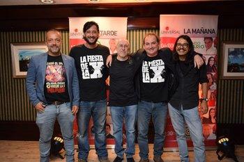 Jorge Quian, Pedro Lemes, Daniel Figares, Alejandro Fontaina y Enzo Villalba