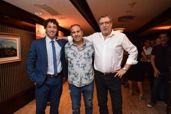 Martin Kesman, Cesar Vianchi y Antonio Ladra