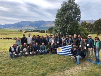 Delegación uruguaya en Nueva Zelanda.
