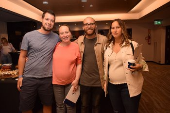 Javier Formager, Susana Leweowicz, Andres Kaplan y Vera Bernheim
