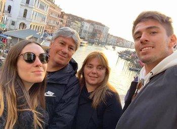 Con Flavia, Horacio y Rosario en Venezia