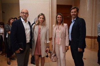 Felix Cardona, Barbara Musso, Adriana Ocampo y Alberto Parra