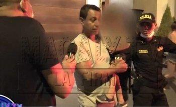 Solano fue detenido y captado por cámaras de TV