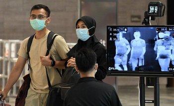 Los controles para la detección de covid-19 en Singapur comienzan desde el Aeropuerto Internacional Changi.
