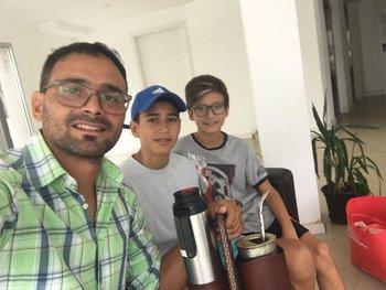 Matías Rosa y sus hijos